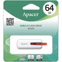 Apacer 64Gb AH326 white usb-флеш