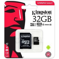 Kingston micro-sd 32Gb (адаптер) /класс 10/ Карта памяти