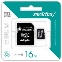 Smart Buy micro-sd 16Gb (адаптер) /класс 10/ Карта памяти