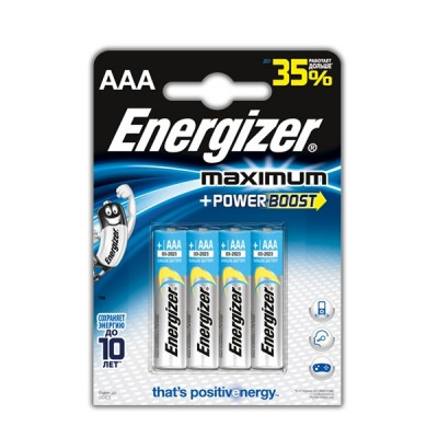 Energizer AAA Maximum Батарейка щелочная