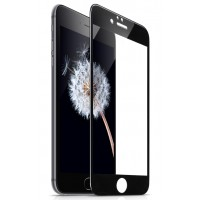 Защитное стекло Apple iPhone 7 Plus/8 Plus 2.5D full screen (black) техпак