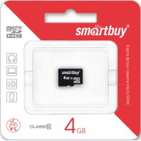 Smart Buy micro-sd 4Gb (без адаптера) /класс 10/ Карта памяти
