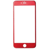 Защитное стекло Apple iPhone 6/6S 4D Leather (front+back) (red)