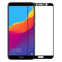 Защитное стекло Huawei Honor 7C/7A Pro/Y6 Prime 2018 2.5D full (black) 9D техпак