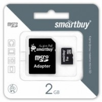 Smart Buy micro-sd 2Gb (адаптер) Карта памяти