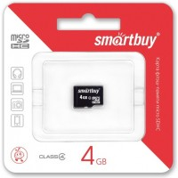 Smart Buy micro-sd 4Gb (без адаптера) Карта памяти